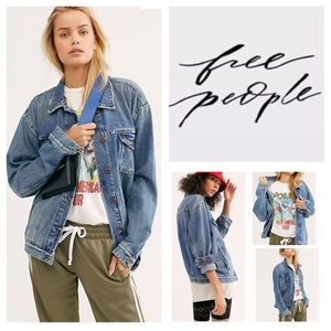 Free People Ramona Trucker Denim Jacket.  NWT.